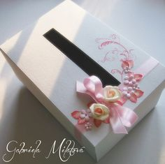Hand-Crafted by Gabi M.: {WEDDINGS} Roses Ivory & Rose wedding collection, vol. 3 gift & card box