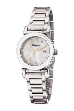 Ferragamo Women's Mother of Pearl Dial Watch