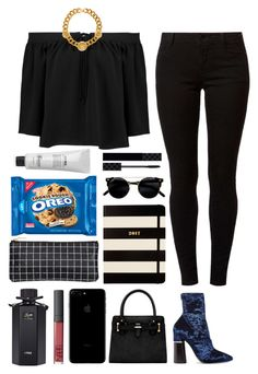 """""""5.031"""" by katrina-yeow ❤ liked on Polyvore featuring Elizabeth and James, Versace, Dorothy Perkins, 3.1 Phillip Lim, Gucci, Kate Spade and Baxter of California"""