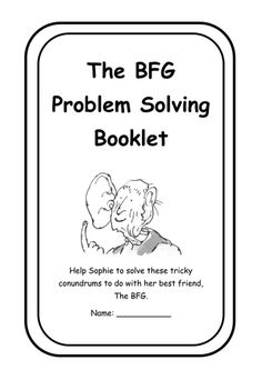 The BFG Activities : Math Word Problems to Engage and
