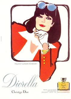 DIORELLA  1980 Gruau