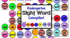 Kindergarten Sight Words Free Printable from - I printed these and the Grade Caterpillar and put them on Davey's whiteboard above his desk! Kindergarten Library, Kindergarten Language Arts, Preschool Kindergarten, Creative Teaching, Teaching Kids, Red Words, Sight Word Activities, Letter Recognition, Sight Words
