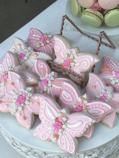 Butterfly Cookies from a Butterfly Garden Birthday Party on Kara's Party Ideas Butterfly 1st Birthday, Butterfly Garden Party, Butterfly Birthday Party, Girls Birthday Party Themes, Fairy Birthday Party, Garden Birthday, First Birthday Parties, 5th Birthday, Butterfly Party Decorations