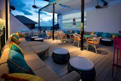 Experience uninterrupted views of the Emerald Coast skyline at the Havana Beach Rooftop Lounge, the exclusive rooftop lounge at The Pearl Hotel. Havana Bar, Rosemary Beach Florida, New Urbanism, Rooftop Lounge, Girls Getaway, Beach Bars, Beach Town, Real Estate Companies, Florida Beaches
