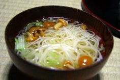 Shirataki noodle soup.  These carbohydrate free noodles are made from 97% water and 3% soluble fiber.