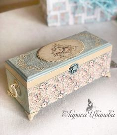 Новости Decoupage Box, Decoupage Vintage, Altered Cigar Boxes, Painted Jewelry Boxes, Creative Box, Diy Box, Wood Boxes, Furniture Makeover, Painting On Wood