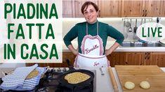 PIADINA FATTA IN CASA LIVE - Ricetta Facile All'olio di Oliva Senza Lievito