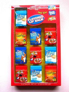 Kellogg's Lip Balm Set (naughty-but-nice) Tags: candy kawaii lipgloss cereals kelloggs lipbalm Chapstick Lip Balm, Eos Lip Balm, Lip Balms, Gloss Labial, Matte Lip Gloss, Nice Lips, Baby Lips, Cute Makeup, Gorgeous Makeup