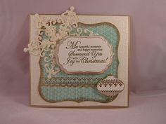 Snowflake with ornament card | This was done with JustRite s… | Flickr