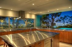 Kitchen pass through window or wall - sharing the kitchen counters with the outdoors