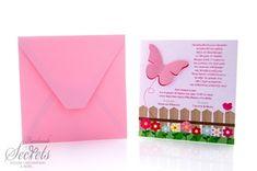Προβολή λεπτομερειών για το Προσκλητήριο βάπτισης λείο ματ ροζ με πεταλούδα