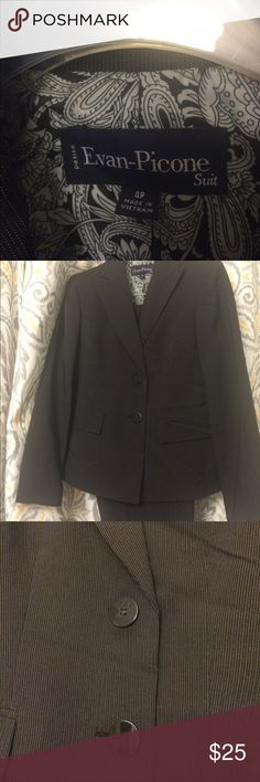 Black pin striped suit. Black pinstriped pant suit. Evan Picone Other