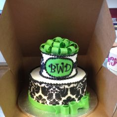 Sweet sixteen cake  i like the monogram idea