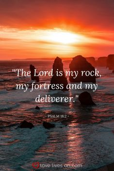 Bible verse for funerals from Psalm 18:2. Click for 100+ more bible verses for a Christian funeral or memorial service.