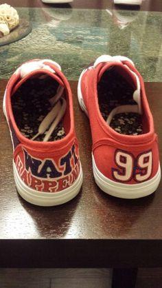 Back of Houston Texans JJ Watt shoes...