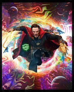 Doctor Strange steps through a portal colourful art Marvel Comic Universe, Marvel Dc Comics, Marvel Heroes, Marvel Characters, Marvel Movies, Marvel Cinematic Universe, Marvel Avengers, Marvel Fan, Captain Marvel