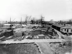 Oakland Lumber Mill foot of Broadway 1901