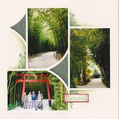bambouseraie3b Scrapbook Page Layouts, Scrapbook Pages, 4 Photos, Album Photos, Fairy Stencil, Mini Albums Scrap, Creative Memories, Digital Scrapbooking, Stencils
