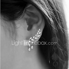 Women's Stud Earrings Tassel Costume Jewelry Fashion Alloy Leaf Jewelry For Party Birthday Daily 2017 - $2.99