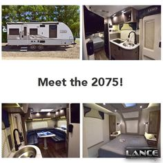 The Lance 2075 Travel Trailer comes with spacious living accomodations and a large exterior awning! Learn more here! Camper Life, Truck Camper, Lance Campers, Rv Show, Construction Design, Travel Trailers, Tailgating, Recreational Vehicles, Exterior