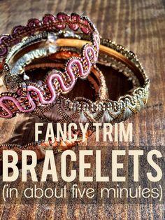 studio BEAUVERT: DIY fancy trim bracelets
