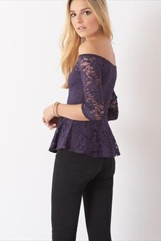Earn major flirt points in this lacy peplum top