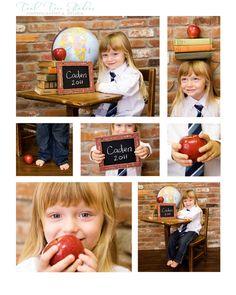 Back to school photo session idea