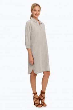 Foxcroft Solid Tencel 3/4 Sleeve Dress