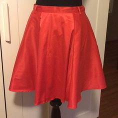 SALEArk & Co. Pleated Miniskirt Red Pleated miniskirt Size S. Waist is 28 inches and length 17 inches. Kind of thick and it has polyester lining. Blend of polyester and cotton. Button and hidden zipper on the side. Excellent condition! 3rd picture shows the back and last picture more details. Feel free to ask questions or more pics! MAKE ME AN OFFER! Ark & Co Skirts Circle & Skater