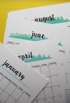 Today's gift is a printable calendar. This would but a great gift to give to co-workers! The new year will be here before we know it and it would be so great to already have a calendar on han…