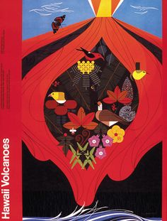Poster by Charley Harper. I just bought a massive print of it for our office, and I love it!