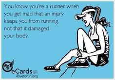 I know how it feels!!! I'm out of running for a month because of my knee and ankle!!!!! I miss running!!!!
