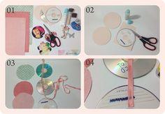 Porta retrato feito com cds