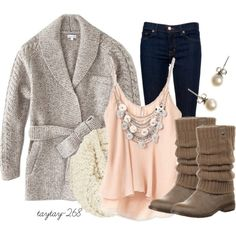 girly meets warm, created by taytay-268 on Polyvore