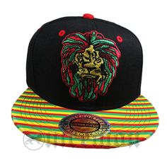dffb32c148397 Lion Rasta Snapback Cap Hat Flat Visor Snap Back Hip Hop Hiphop Rastafari  IRIE