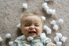 Baked Cotton Balls and Cotton Ball Sensory
