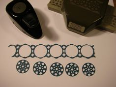 Stampin' Up!'s Lace Ribbon Border Punch - punch out center designs with circle punches - bjl