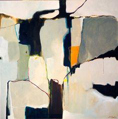 Minimalist abstract painting grey white por SarinaDiakosArt en Etsy