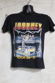 Journey Raised on Radio vintage t shirt Tour by imtryingtofocus Steve Perry, Rock T Shirts, Band Merch, Me Clean, Journey, Hoodies, Trending Outfits, Tees, Stuff To Buy