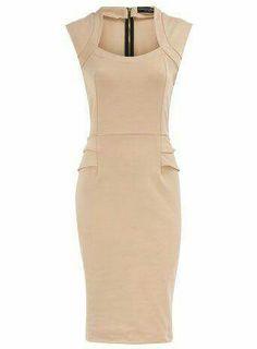 Vestido color crema