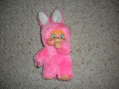"Easter Pets 8"" Plush Bean Pink Bunny Rabbit Eats Carrot By Easter Unlimited Inc"