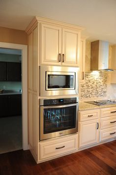 Microwave Over Wall Oven Design Ideas, Pictures, Remodel And Decor Part 72