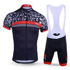 New Design Skeleton Cycling Set for Men Short Sleeve MTB Cycling Clothing  Breathable QuickDry Jersey Set 06e011cb4