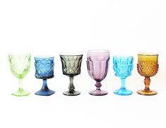 Goblets  Colorful Cups for Wedding  Wedding Set  Wedding