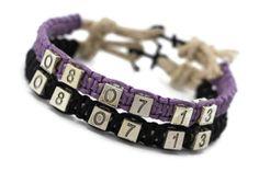 Couples Bracelets Set Anchor Bracelet Anniversary Date by LDnest, $22.99