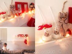 Suggérer une Cheminée  - Noel blanc polaire et rouge gourmand