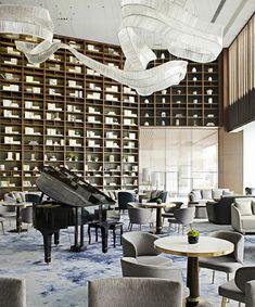 佛山招商曦岸销售中心-矩阵纵横 Matrix Design, Airport Vip Lounge, Chinese Interior, Smart Office, Hotel Lobby, Table, Furniture, Home Decor, Hotels