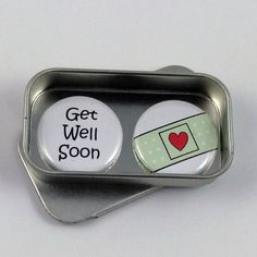 Get Well Soon Magnet Gift Set with Gift Tin Sympathy Alternative Greeting Card Handmade Keepsake Momento Sympathy Greetings, Tin Gifts, A4 Paper, Get Well Soon, Band Aid, Greeting Cards Handmade, Magnets, Sunglasses Case, Best Gifts