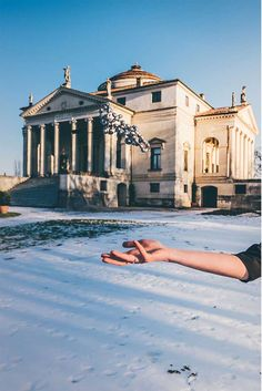 "photo by courtesy of @dvdprtto @garageraw Dancing in the Rain 18kt gold necklace with diamonds in front of ""La Rotonda"" (Villa Almerico Capra) by Andrea Palladio in Vicenza. #NanisJewels in 18kt gold, diamonds and natural stones."