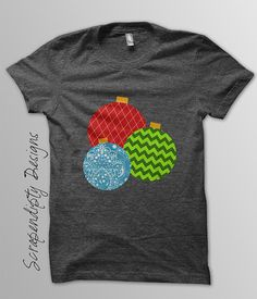 Ornament Iron on Transfer  Christmas Shirt by ScrapendipityDesigns, $2.00